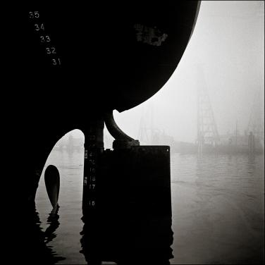 Ship rudder, Islais Creek, San Francisco, circa 1948 1000552