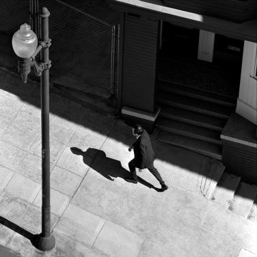 Man Walking Up San Francisco Street 1002348