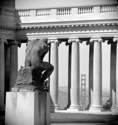 Rodin's 'The Thinker', at Palace of the Legion of Honor, San Fra